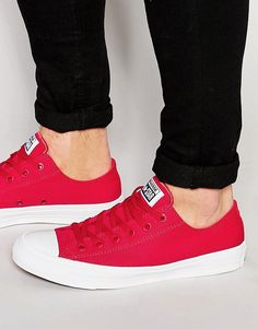 dee8104a824d6e Shop Converse Chuck Taylor All Star II Plimsolls In Red at ASOS. Panos A.  Bozèlos · Shoes