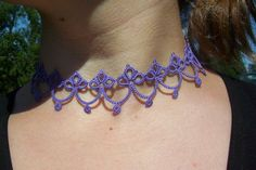 Use coupon code PINTEREST for 10% off!  victorian choker lace choker tatted choker tatted lace by MamaTats