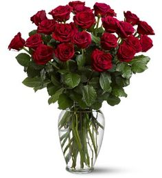 $79.95 Gorgeous, deep red roses, a double-dozen!