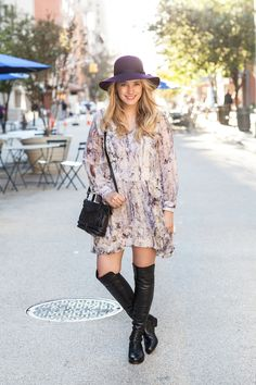 Aside from being the ultimate bad hair day solution, a floppy hat adds a touch of edge to a feminine or classic outfit.