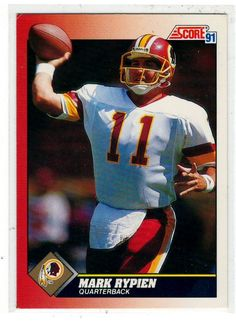 Football Cards 1991 Score Mark Rypien