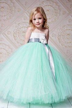 d24c2291adfc girl in sea green dress... Six Sisters Beadworks . com · Pastel Flower Girl  ·