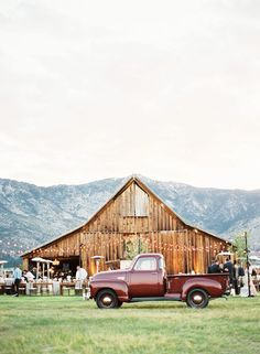 even though this is a barn...the truck makes it seem less country and more 50's