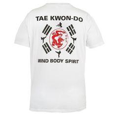 44e99a16 Taekwondo T-shirt Rule Out Fightwear Mind Body Spirit Gym Martial Arts. MMA  T-shirt