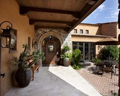 Mediterranean Patio Courtyard Design, Pictures, Remodel, Decor and Ideas - page 6