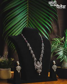 Indulge in the magical aura of Sterling Silver jewellery that adds an edge of Grace & Beauty to your ethnic look. 🍁 DM us for details now 📲 Sterling Silver Jewelry, Silver Jewellery, Grace Beauty, Ethnic Looks, Earring Set, Carving, Ahmedabad, Chain, Detail