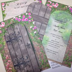 Secret Garden wedding invitation, in our etsy shop