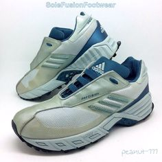 adidas Womens Trail Running Trainers Blue/Silver size 6.5 Rare VTG Sneakers 8 40  | eBay