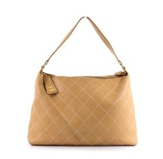 Chanel Beige Lambskin Surpique Contrast Stitch Hobo Bag Review Buy Now
