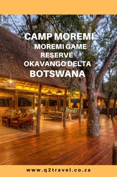 All you need to know about Camp Moremi