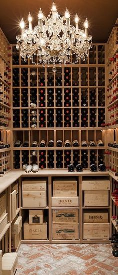 Glam Wine Cellar (Bottle Chandelier Liquor)