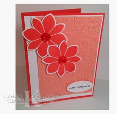 """Calypso Flowers is made with Stampin' Up's """"Petal Potpourri"""" and """"And Many More"""" stamp sets."""