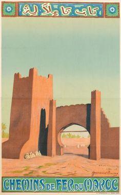 Maurice Guiraud-Riviere (1881-1967). Chemin de Fer du Maroc, 1933  - Maroc Désert Expérience tours http://www.marocdesertexperience.com