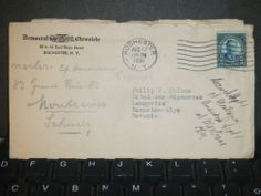 DEMOCRAT CHRONICLE of ROCHESTER, NY to BAVARIA Postal Cover 1931 w/ letter