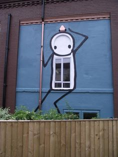 Stik Blue street art Bristol_UK  Are you looking for one? Join b-uncut, the Art Exchange and find a business !  art.blurgroup.com