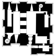"""Dover Castle   Known as the """"Key to England"""" is located in a strategic location near Dover, Kent County, England and was founded in the XIIth century.   plan floor 1"""