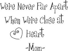 Mom Quote   Wall Decals