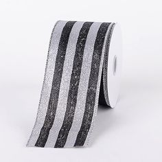 Premium Quality 100% Polyester Black Velvet Mono Striped #Christmas Ribbon, 10 Yards Spool, Ships Within 24 Hours, #Wholesale Available After Registration.