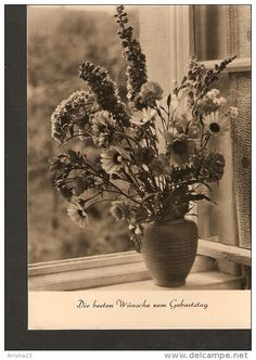 5k. Germany, Geburtstag Happy Birthday - FLORA Flowers bunch bouquet echt foto real photo 1961 DDR - 3 Kongress Berlin