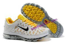 Nike Air Max 2011 Men Yellow Grey Black   #Yellow  #Womens #Sneakers