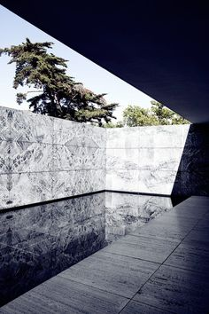 Mies Van der Rohe. Barcelona Pavillion. 1929. Torn down in 1930. Reconstructed between 1983 and 1986.