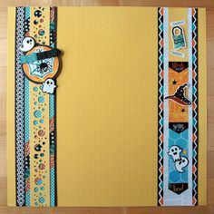 Toil and Trouble Border - washi tape on left border and bubble border