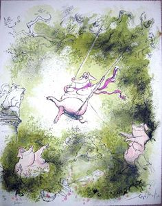 Swinger by Ronald Searle