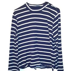 Navy and white long sleeve Used onced. Excellent condition! Navy and white soft long sleeve. Levi's Tops