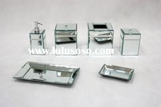 mirrored bathroom accessories sets | mirror with bath accessories set, mirror with bath accessories set ...