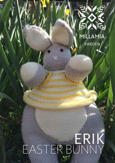 Erik Easter Bunny Toy in MillaMia Naturally Soft Merino. Discover more Patterns by MillaMia at LoveKnitting. The world's largest range of knitting supplies - we stock patterns, yarn, needles and books from all of your favourite brands.