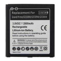 For+Galaxy+Grand+Prime+3.8V+/+2800mAh+Rechargeable+Li-Polymer+Battery