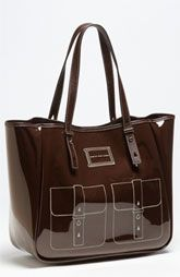 """In search of the perfect colorblock bag, but this tote caught my eye! Love the """"drawn-on"""" effect!"""