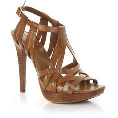 DVF Tan Strappy Heels