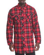 Men - Lumber Jack Plaid Shirt w Side Zipper