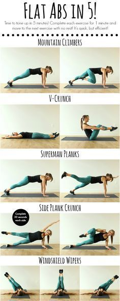 Health And Fitness: Flat Abs in 5! •