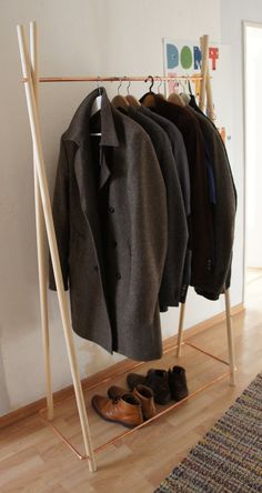 Wood & copper wardrobe by Calvill on Etsy