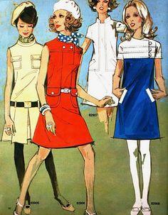 [I wore something similar to the blue and white dress] Fashion_1970SkirtSuit