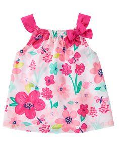 Gymboree Island Hopper 8 10 Butterfly Tank /& denim Shorts Floral Pink 2016