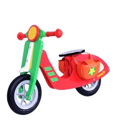 Take a look at this Red & Green Wood Scooter on zulily today!