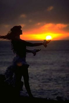 Hula in the sunset.