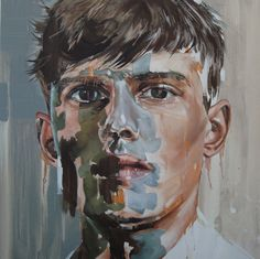 """""""Youth without youth"""" Oil on canvas, 80 x 80cm. From the """"Otherness"""" series by Corné Eksteen"""