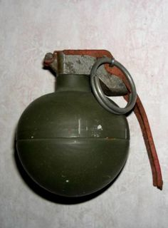 Grenades, Mines and Boobytraps reference Military Humor, Military Guns, Gary Grant, Kitchen Stickers, Airplane Decor, Combat Gear, Submachine Gun, Birthday Songs, Ak 47
