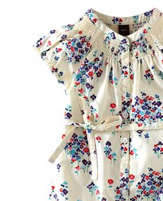 All the flowers on this girly print are constructed from geometric tile shapes.