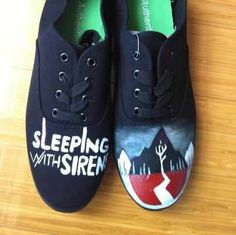 bc3b09b0de7a9a hand painted SWS Sleeping with Sirens Hand painted Shoes