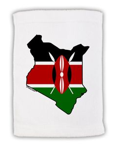 "Kenya Flag Silhouette Micro Terry Sport Towel 11""x18"