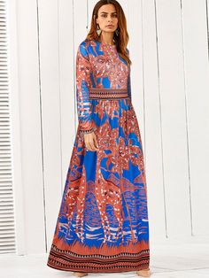 #maxi #print #afflink Boho Maxi Dress Ethnic Print Silk Dress - $29.23 http://shareasale.com/r.cfm?b=961496&u=1560813&m=69038&urllink=http%3A%2F%2Fwww%2Emilanoo%2Ecom%2Fproduct%2Fboho%2Dmaxi%2Ddress%2Dethnic%2Dprint%2Dsilk%2Dround%2Dneck%2Dlong%2Dsleeve%2Dpleated%2Dorange%2Dred%2Dlong%2Ddress%2Dp707274%2Ehtml%23m940253&afftrack=