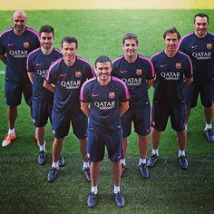 Luis Enrique's coaching staff | El cos tècnic de Luis Enrique | El cuerpo técnico de Luis Enrique #igersfcb #fcbarcelona