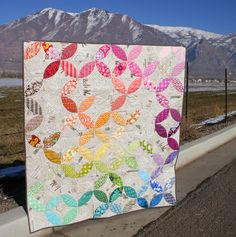 orange peel tutorial...fusible web method, secure peels and quilt at the same time