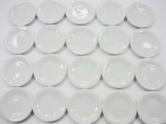 Dollhouse-Miniature-Kitchen-Ceramic-20-White-Dining-Round-Plate-Dishes-3cm-2259