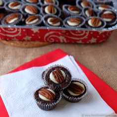 Pecan Brownie Bites for a Cookie Drive #ChristmasWeek | Farm Fresh Feasts